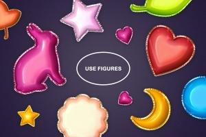 金箔气球文本效果字体特效样式PSD分层模板 Foil Balloon Text Effects插图6