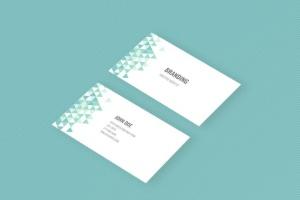 企业品牌办公用品样机模板 Branding Identity Mock Up – Teal Tirangles插图4