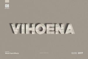 8款超逼真木纹效果PS字体样式 8 Wood Text Effects插图10