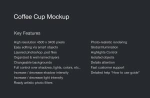 7个咖啡纸杯设计图PSD样机模板 7 PSD Coffee Cup Mockups插图2