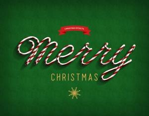圣诞节主题海报文字样式PSD分层模板 Christmas Text Effects插图4