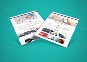 网站界面设计截图3D预览样机模板v3 3D Web Presentation Mockup (V3)插图5