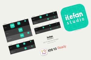 iOS13系统APP图标及APP Store预览样机模板 iOS 13 App Icon Template插图2