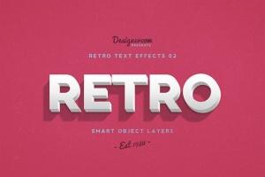 10款复古文本标题3D立体效果PS图层样式 Retro Text Effects V01插图7