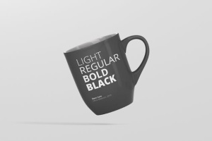 圆形光泽马克杯外观设计样机 Mug Mockup – Rounded插图4
