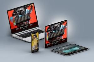 超高分辨率等距多设备响应式设计预览样机PSD模板 Isometric Multi-Device PSD Mock-ups 2019插图3