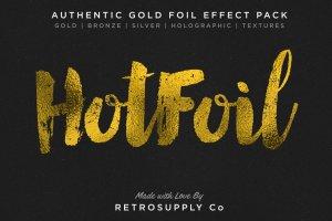 烫金金箔纹理&图层样式 Hot Foil | Foil Stamping Machine插图1