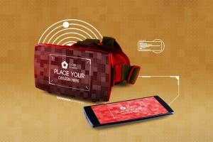 虚拟现实VR眼镜智能设备动画样机 Animated VR MockUp插图6
