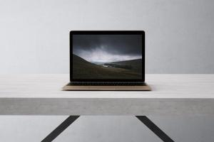 高品质的笔记本电脑设备展示样机 Laptop Mock-Up插图1