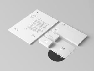 企业品牌VI视觉设计展示办公用品样机套件PSD模板 Stationery Branding & Identity Mockup – PSD插图6