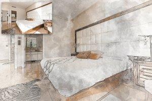 极具创造性的建筑素描PS图层样式下载[psd,jpg]插图2