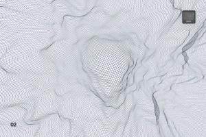 抽象网络信号波纹图案PS笔刷 Network Turbulence Photoshop Brushes插图3