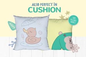 卡通动物手绘图案装饰儿童主题设计素材 Character Animal Decorative for Kids插图3