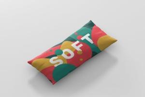 时尚多彩长矩形沙发卧室枕头样机模板 Pillow Mockup – Long Rectangle插图7