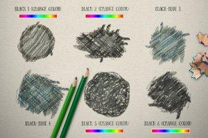 彩色铅笔效果合集 Photoshop Pencil Color Effect插图8