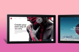 网页设计等距平板电脑屏幕样机 Isometric Screen Mockup插图6