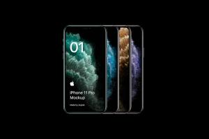 全新iPhone 11 Pro手机屏幕界面演示样机模板[PSD格式]插图1