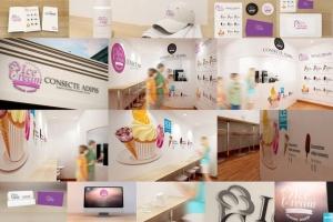 雪糕咖啡店铺品牌样机模板 Ice Cream – Coffee Branding Mockups插图2