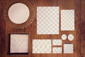 高端品牌VI视觉设计预览办公用品套装样机01 Stationery Mockup 01插图2