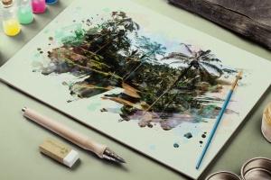 50款水彩手绘数码绘画PS笔刷合集 50 Watercolor Brushes插图2