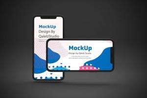 黑色背景iPhone 11智能手机屏幕预览样机 Dark iPhone 11 Mockup插图7