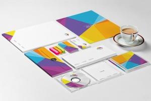品牌设计展示办公文具等距场景样机 Stationery Mockup Set插图6