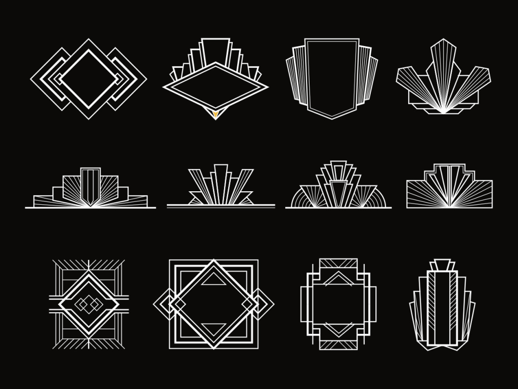 复古装饰艺术设计元素素材 Art Deco Design Elements插图