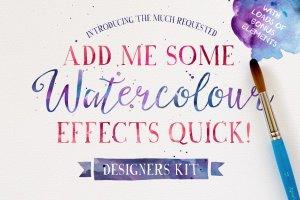 60款水彩效果图层样式 Add me some Watercolour Quick!插图1