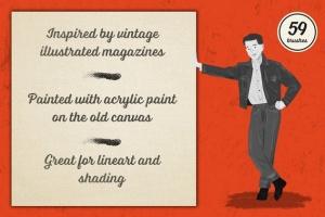 油画数码创作必备AI笔刷合集 Preppy Art Brushes for Adobe Illustrator插图2