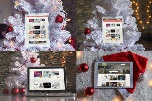 8款圣诞节主题&iPad样机模板 8 Christmas Mac & Ipad Mock-ups插图2