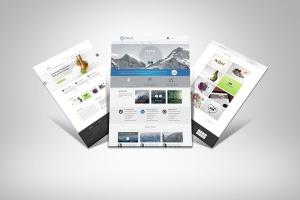 网站UI设计3D展示图样机模板 3D Web Presentation Mockup (V1)插图4
