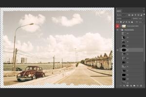 照片一键生成复古怀旧效果图层样式PSD分层模板 Vintage Photo Effects插图2