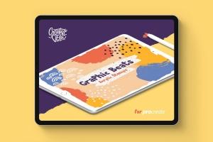 Proceate手绘设计师必备笔刷&模板素材包 Procreate Brushes & Templates Bundle插图5