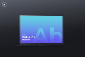 黑色笔记本电脑屏幕网站设计演示样机 Dark Laptop Mockups插图2