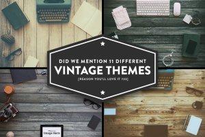 12款复古风巨无霸场景广告模板 12 Vintage Hero Images (+ Bonus)插图3