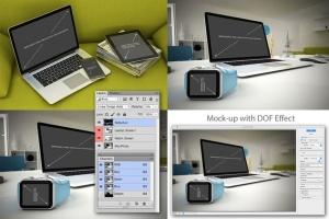 苹果笔记本电脑样机展示模板 Laptop Mockup – 7 Poses插图3
