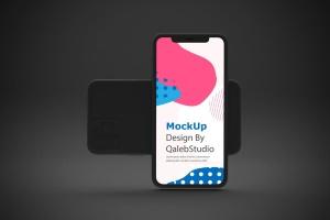 黑色背景iPhone 11智能手机屏幕预览样机 Dark iPhone 11 Mockup插图5