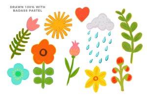 彩色粉笔蜡笔画Procreate专用笔刷 Texturrific Pastels for Procreate插图6