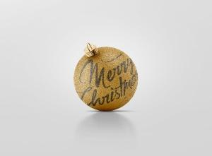 闪闪发光圣诞装饰球样机模板 Glitter Christmas Ball Mockup插图7