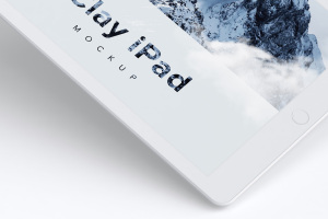 iPad平板电脑屏幕预览UI设计效果图样机01 Clay iPad 9.7 Mockup 01插图2