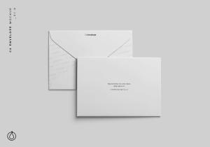 C6信封外观设计样机模板 C6 Envelope Mockup插图1