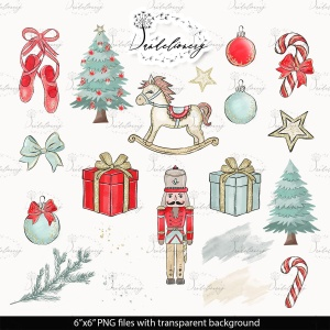 圣诞节胡桃夹子矢量手绘设计素材 Christmas Nutcracker design插图4