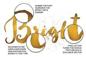 100%矢量闪亮金箔图层样式 Shimmer & Shine: 100% Vector Gold插图3
