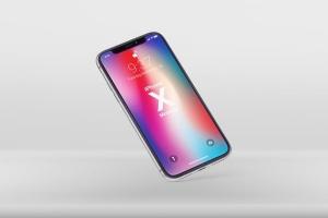 多角度iPhone X智能手机样机 Phone X Realistic Mock-Ups插图7