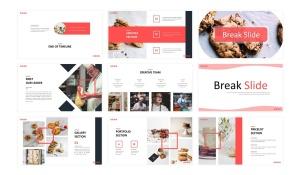 美食品牌宣传/餐饮培训公司适用的Keynote模板 Cookies  – Business Keynote Template插图3