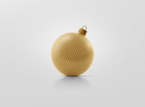闪闪发光圣诞装饰球样机模板 Glitter Christmas Ball Mockup插图11