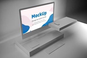 极简设计风格iMac一体机电脑样机v2 Clean iMac Pro V.2插图2