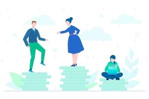团队合作主题扁平设计风格矢量插画 Teamwork – flat design style colorful illustration插图1