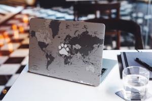 Macbook A面定制外观样机模板 MacBook Skin Mock-Up插图5