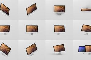 iMac电脑桌面屏幕样机模板 Desktop Screen Mockup插图15